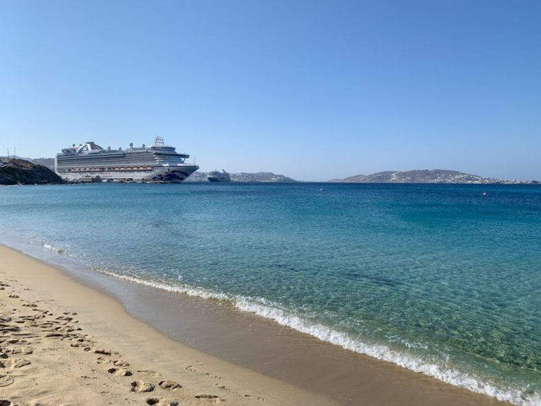 Mykonos Stefanos Beach - The Secret Free Beach brought to you by the cruise ship crew member