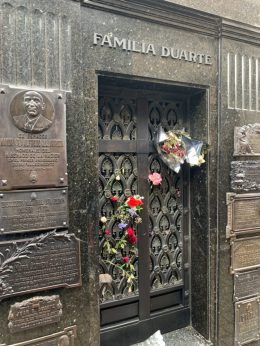 Eva Peron Grave - on our Cruise to South America