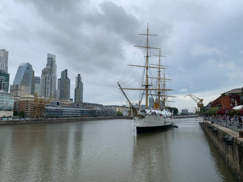 A tall ship in Puerto Madero, Buenos Aires