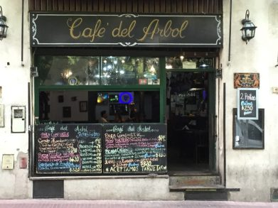 A typical cafe in Buenos Aires Seen on our Cruise to South America