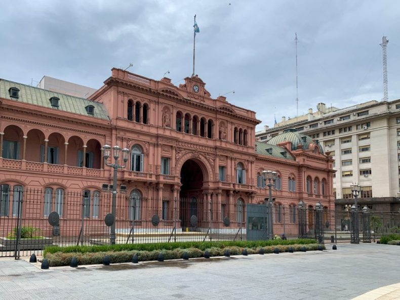 Casa Rosada Buenos Aires on our Cruise to South America