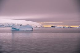 Iceberg at sunset on our Cruise to Antarctica