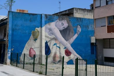 Wall mural in Montevideo - on our Cruise to South America