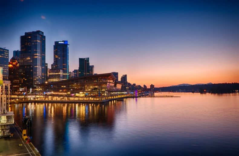 Some of the Best Sunsets in Vancouver to See are In Coal Harbour