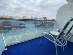 A view from our B520 Balcony in B520 on the Coral Princess cruise to Antarctica and South America