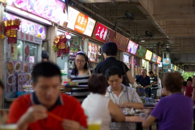 Hawker Center Is Where Locals In Singapore Eat