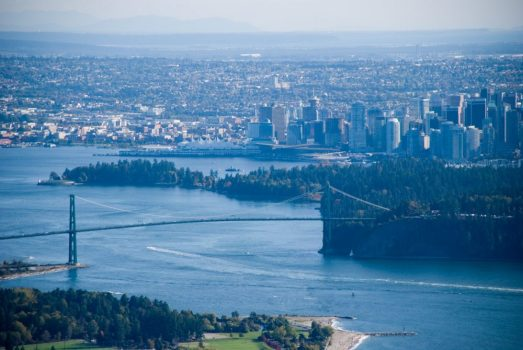 View of Vancouver BC from Cypress Mountain