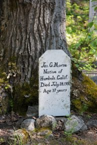 An Old Gold Rush Cemetery in Skagway, Alaska