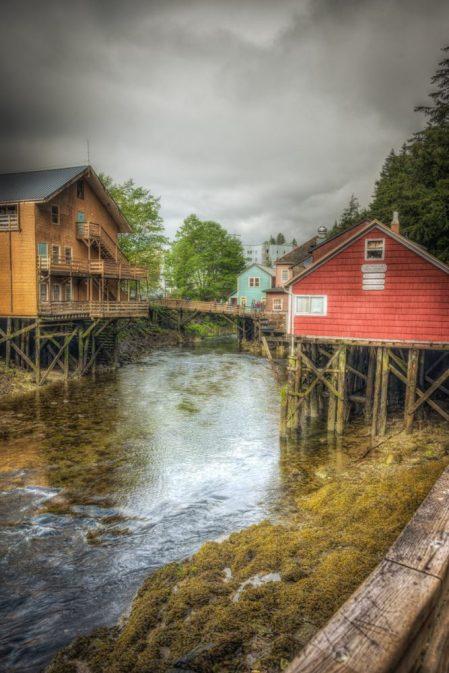 Creek Street in Ketchikan Alaska