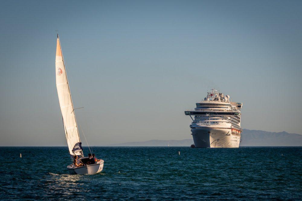 cruise ship - cruising calm seas