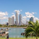 Panama City Skyline - Arriving by Cruise ship