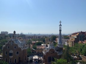 The view of Barcelona from Park Güell - A beautiful view of the Mediterranean on our Cruise Adventure!