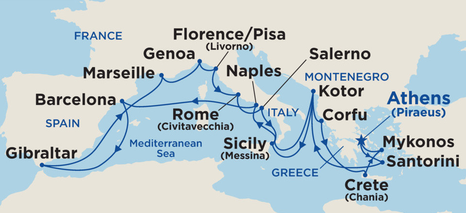 Our 21 day Mediterranean Cruise Adventure - All the ports