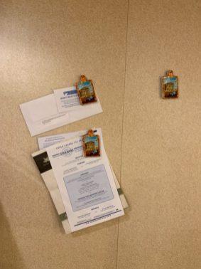 Fridge Magnets help organize your cruise invitations