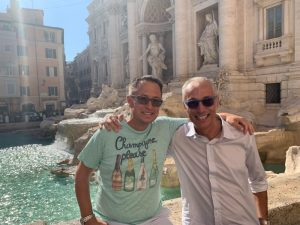 Us at the Trevi Fountain