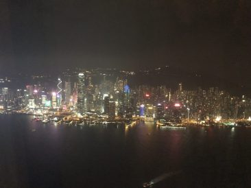 The view from our room at the Ritz-Carlton Hong Kong