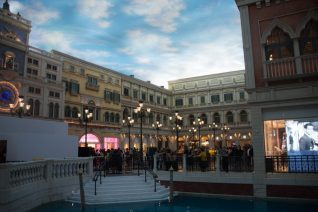 shopping centre at the venetian in macau
