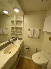 A view of our B520 Bathroom in B520 on the Coral Princess cruise to Antarctica and South America