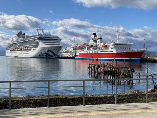 Coral Princess in Ushuaia - On Our Cruise to South America and Antarctica