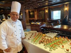 Ricky, the Pastry Chef on board the Coral Princess