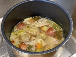 What the broth looks like after being cooked