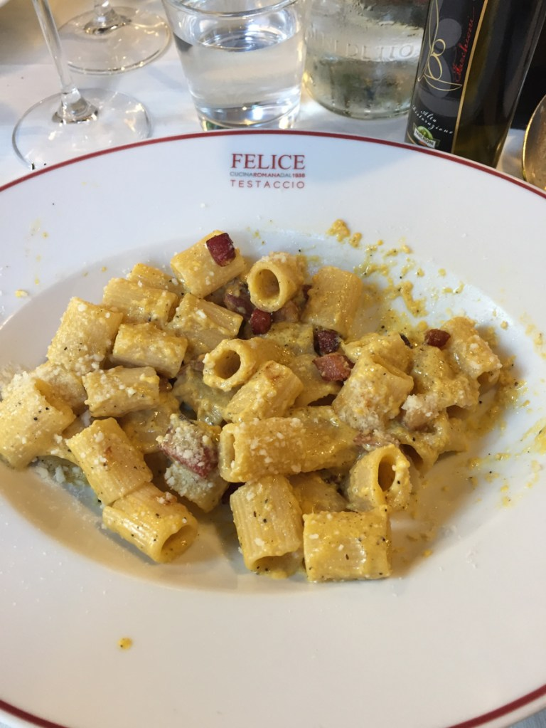 Pasta Carbonara - Mezzamaniche from Felice Restaurant in Rome