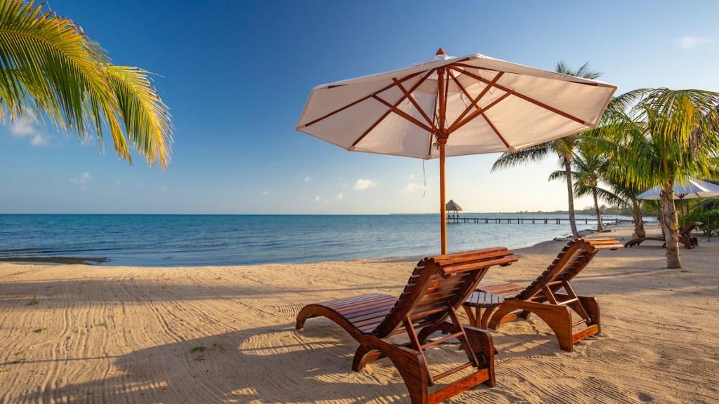 Beach at Sirenian Bay Placencia Belize