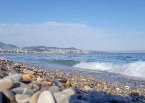 Nice Beach Rocks, Cote dAzur, France
