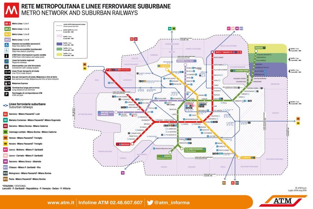 Milan Metro Network