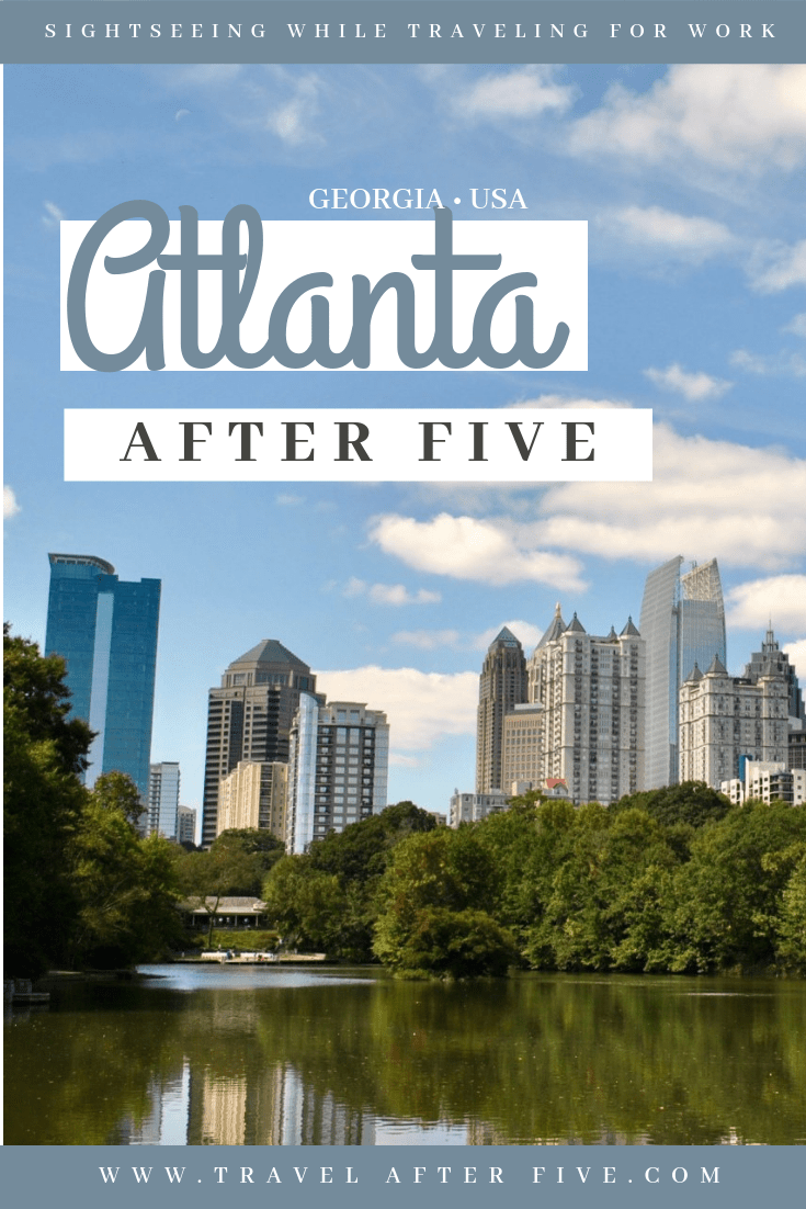 There are many things to do in Atlanta, Georgia after 5:00 pm. Are you staying inside the perimeter? Try checking out Piedmont Park to get a view of the city skyline. Ponce City Market has a lot of places to eat, and is five minutes away from Atlanta downtown. Krog Street Market is another place to try beer or Mexican food. The Glenn Hotel Rooftop has great hand crafted cocktails with a city view. Battery Park is another great Atlanta park to check out.