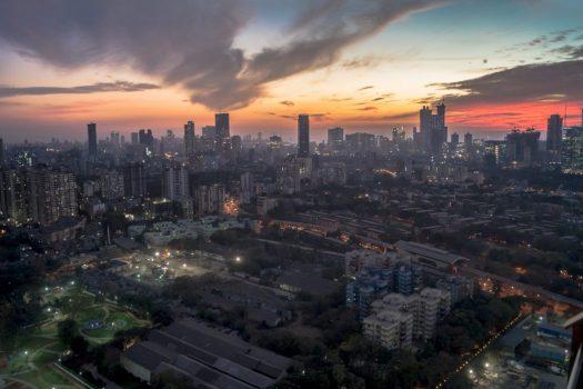 Mumbai at Night Skyline