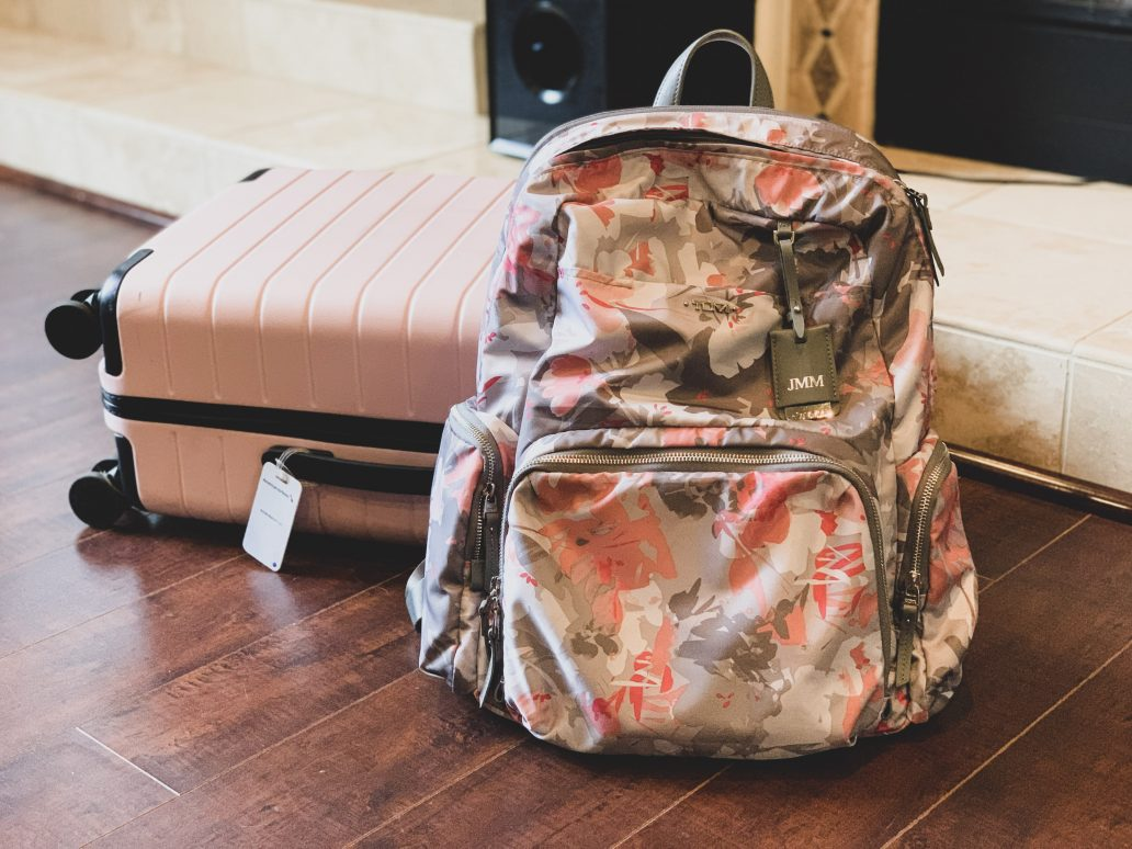 TUMI Calais Voyageur Grey Floral Backpack Review