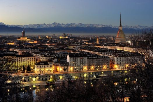 turin in the evening