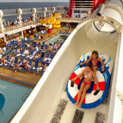 Different cruise lines offer everything from water slides and pool parties to talent shows and culinary classes. // © 2014 Thinkstock