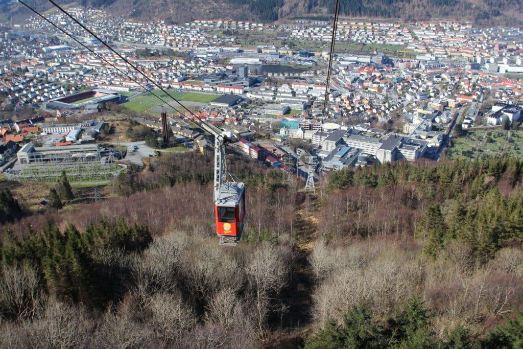 Hiking in Bergen, Norway: From Mt. Ulriken to Mt. Fløyen
