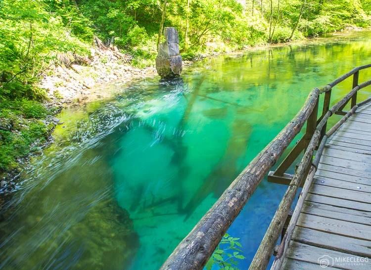 Água colorida incrível em Vintgar Gorge