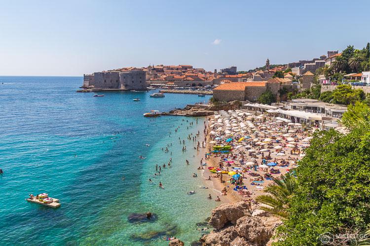 Praia Banje em Dubrovnik