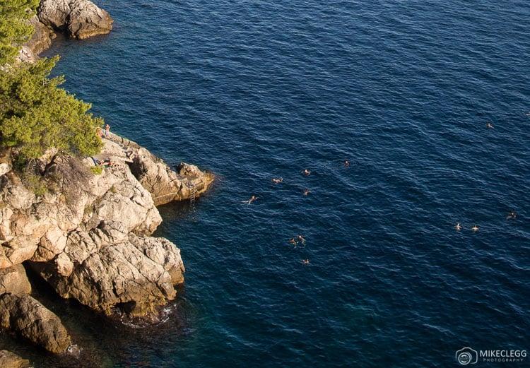 Natação ao longo da Costa Dalmation, Dubrovnik