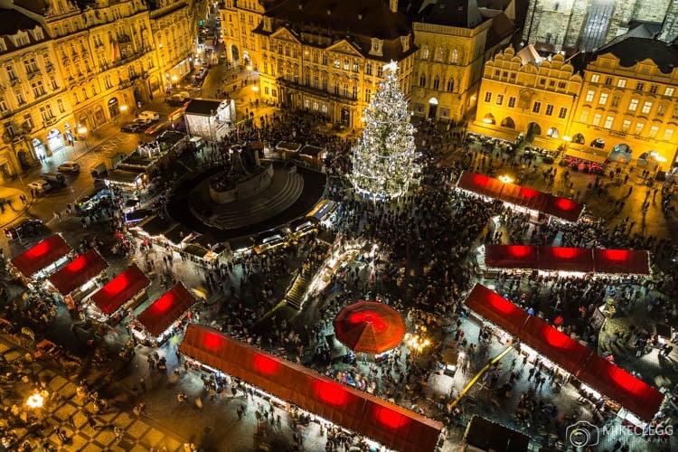 Vista da Torre da Antiga Prefeitura de Praga