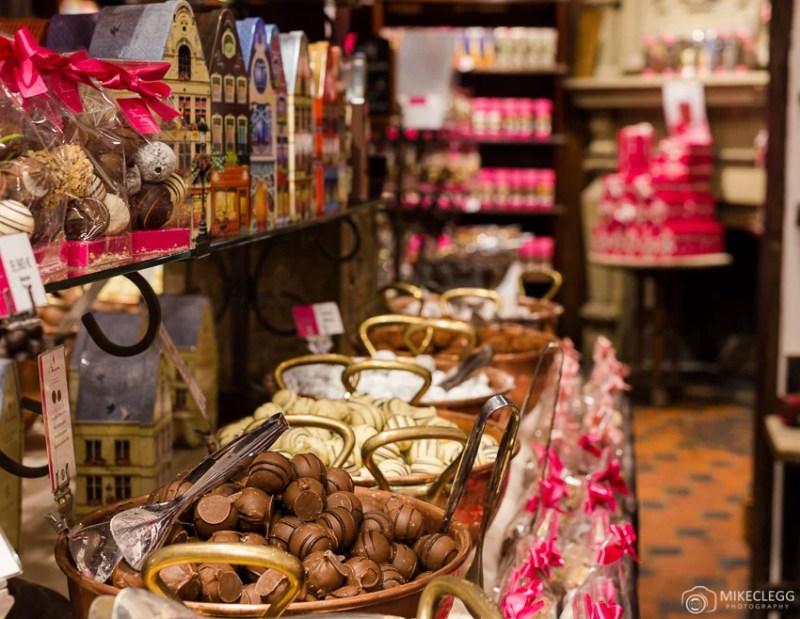 Lojas de chocolates belgas