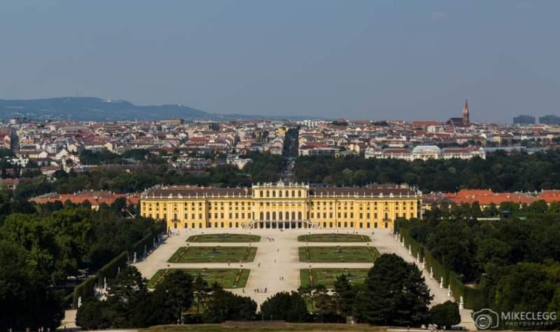 Vista do Palácio de Schönbrunn