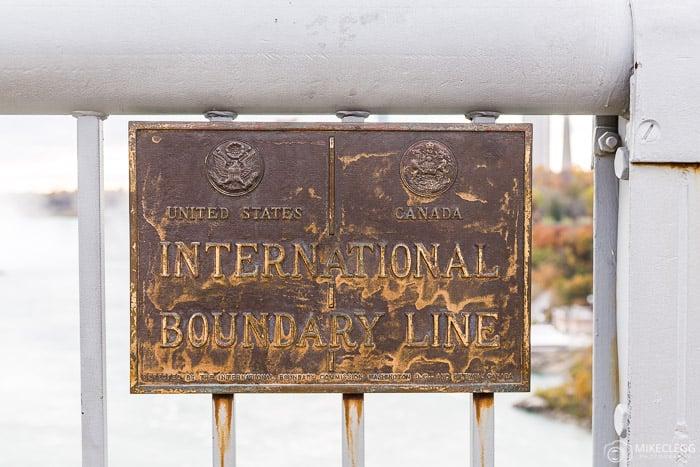 Boundary Line, Canada, USA Rainbow, Bridge