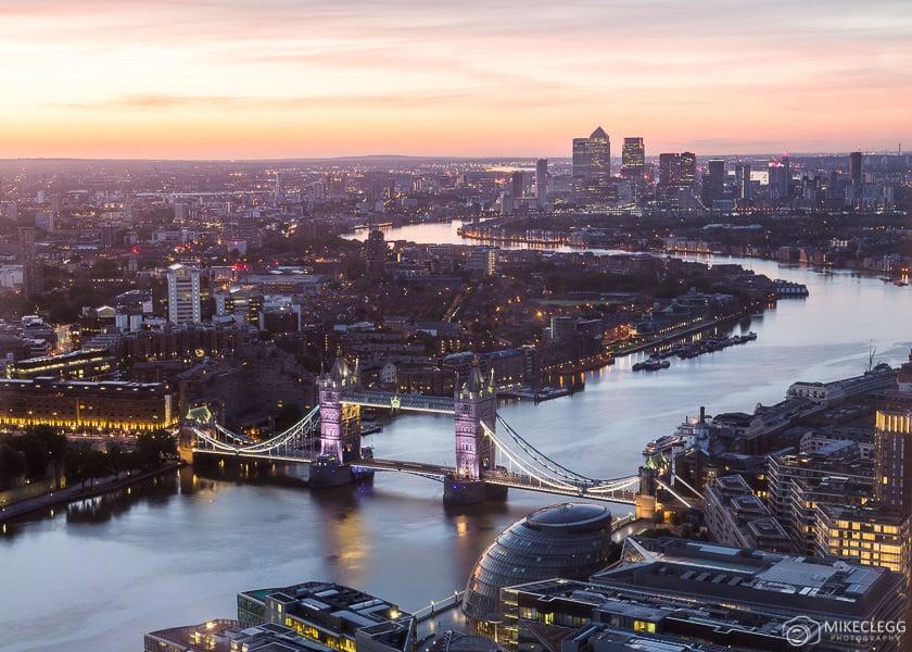 Londres ao amanhecer