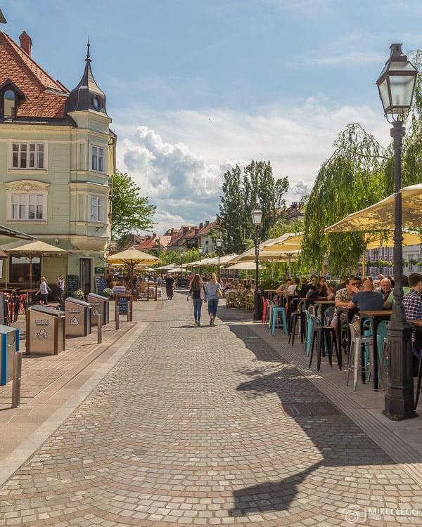 Ruas de Ljubljana no verão