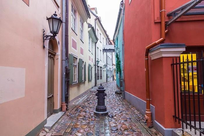 Ruas da cidade velha de Riga