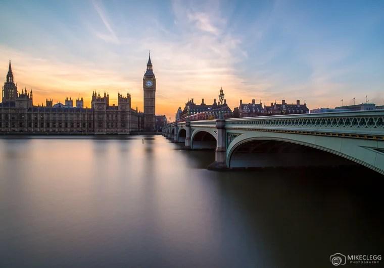 Westminster ao pôr do sol