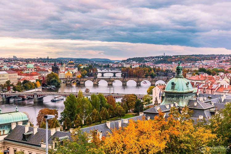 Horizonte de Praga da Colina Letna