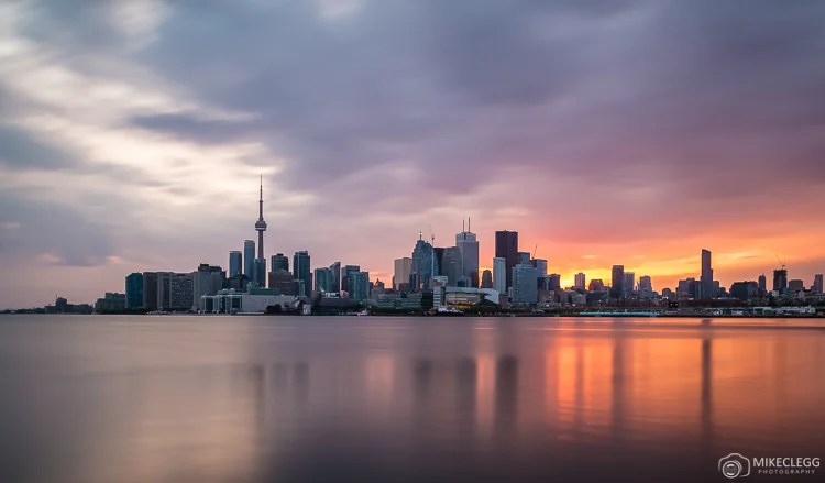 Toronto skyline from Polson Pier