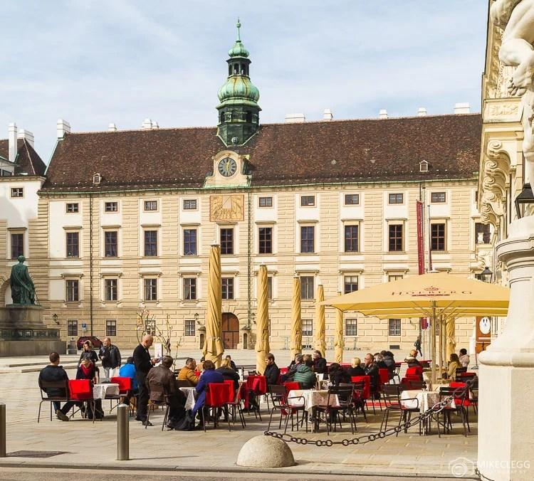 Jantar ao ar livre em Viena