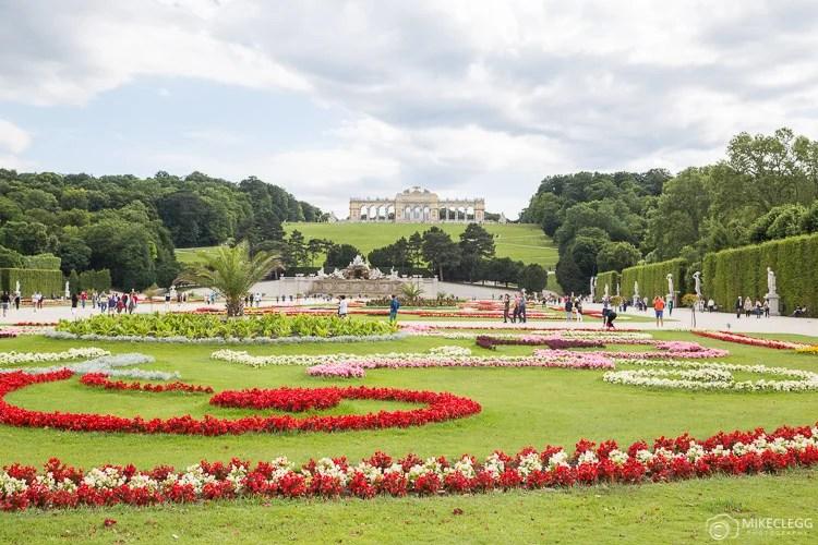 Parque Schonbrunn no verão